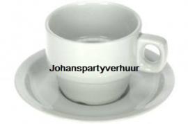 Koffie kop en schotel per 10 stuks