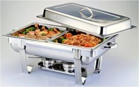 Chafing Dish - met 2 warm houd bakken