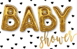 Baby Shower - 1  Statafel met blauwe rok + 1 Statafel met rosé rok