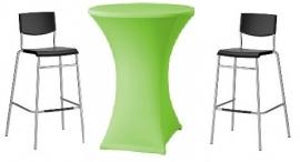 Statafel Ø 85 cm. + Limoen groene rok