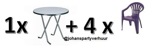 1 Terras tafel + 4 terras stoelen