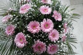 Roze gerbera boeket