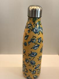 Thermos fles bloem geel
