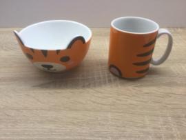 tijger mok & kom set