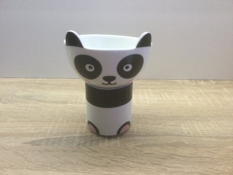 Panda mok & kom set