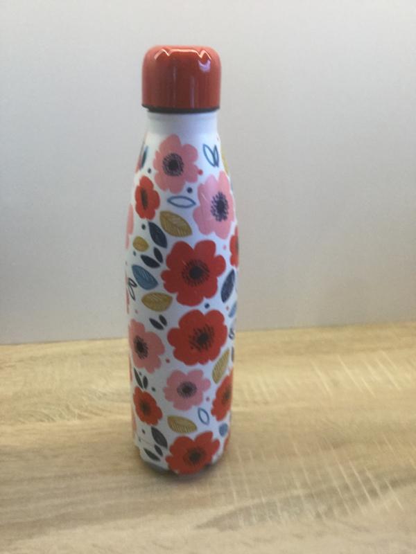 Drinkfles/ thermosfles poppy fields 500 ml