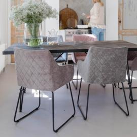 RM Frisco Drive Dining Armchair Velvet