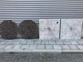 Wandpaneel White 90x90 cm