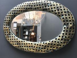 Spiegel gold geweven 98x66 cm