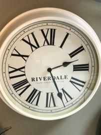 Riverdale klok metaal wit 52cm
