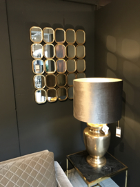 Spiegel gold, horizon- en verticaal hangen