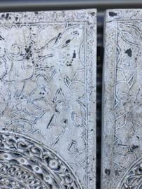 Wandpaneel Wit Antiek - 160x80 cm