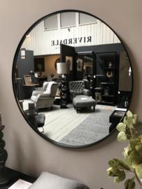 Spiegel  Rond Zwart 84 cm