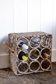RM Rustic Rattan Wine Bottle Rack