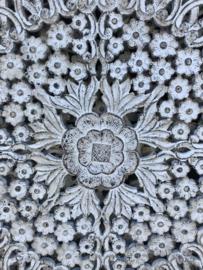 Wandpaneel Wit Antiek - 120x120 cm