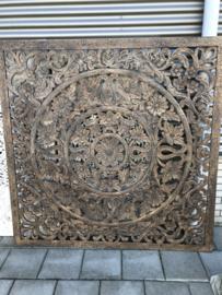 Wandpaneel Brown Antiek - 160x160 cm