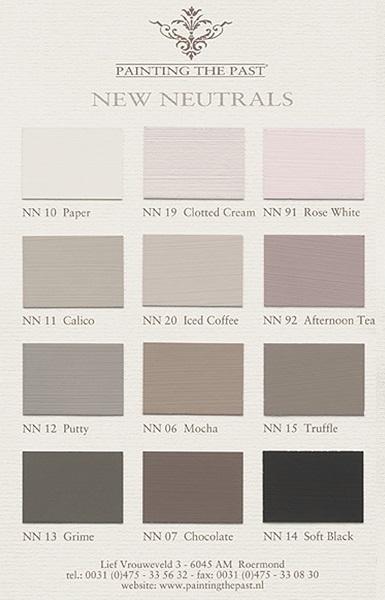 Kleurkaart New Neutrals