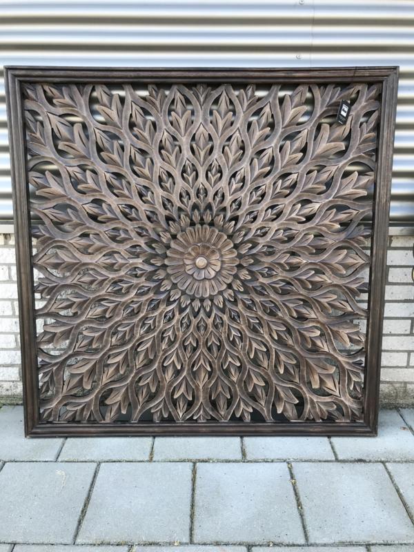 Wandpaneel Jalo Brown - 120x120 cm