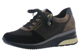 Remonte Sneaker Zwart/Goud D2400