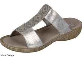 Rieker Dames Slipper Zilver 65882
