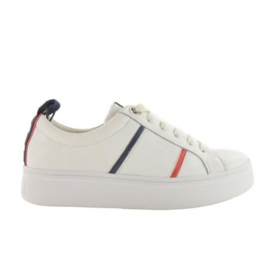 Fabs Sneaker Wit (Rood/Blauw) F61219