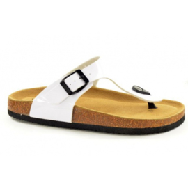 Bio Rock Teenslipper Wit Lak T30050