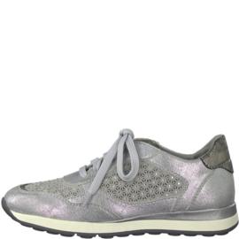 Jana Sneaker Zilver/Grijs 23624
