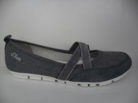 's Oliver Dames Bandschoen Jeans Blauw 24616