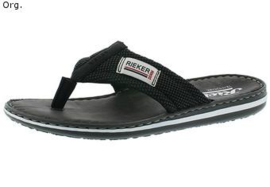 Rieker Heren Teenslipper Zwart 21089