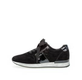 Gabor Sneaker Zwart Nubuck met Lak 420.97