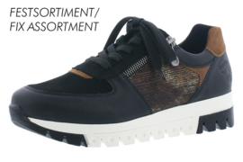 Rieker Dames Sneaker Zwart/Cognac L2917
