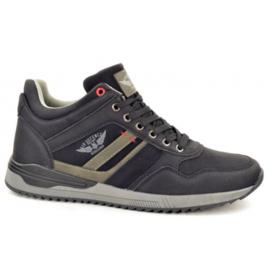 Stallion Heren Sneaker Zwart 370643