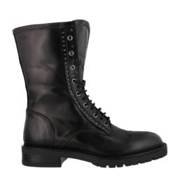 AQA Veterlaars 3/4 Zwart Leder A7910