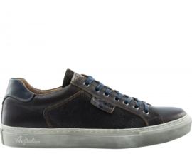 Australian Sneaker Saunders Bruin met Blauw 15.1238
