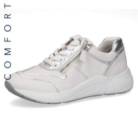Caprice Dames Sneaker Wit/Zilver 23704