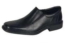 Rieker Heren Instapschoen Zwart Leder B0870 - B0872