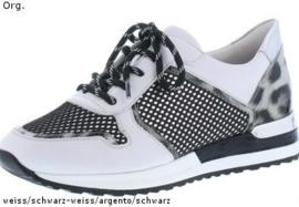 Remonte Dames Sneaker Wit met Zwart R2512