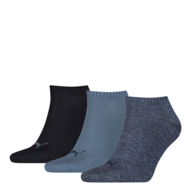 Puma Sneaker Sokken Blauw Combi 3-pack 261080.460