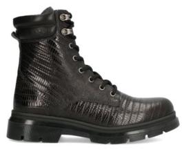 AQA Veterlaarsje Zwart glimmende print A7546