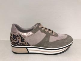 Piedi Nudi Sneaker Taupe met Print 889113