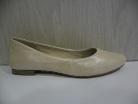 Caprice Dames Ballerina Ecru/Beige Metallic 22107