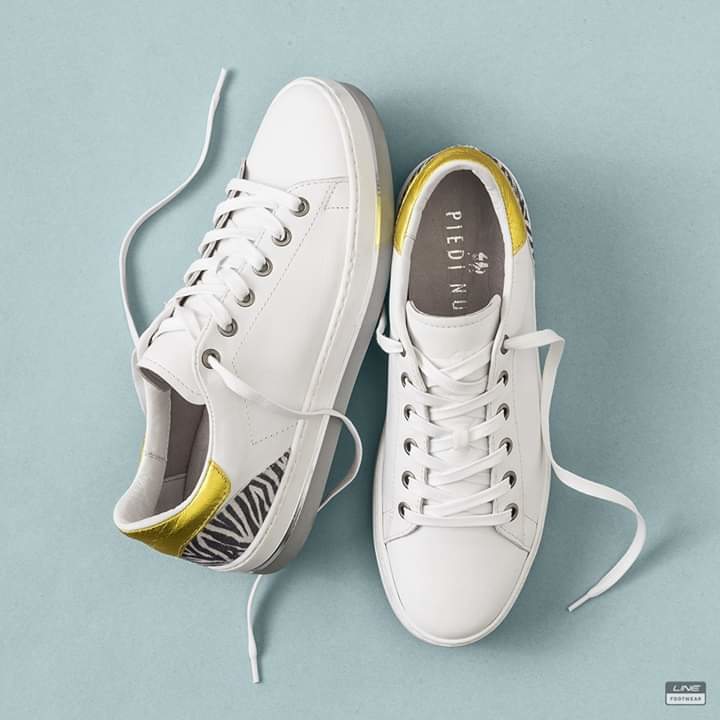 Piedi Nudi Dames Sneaker wit 530108