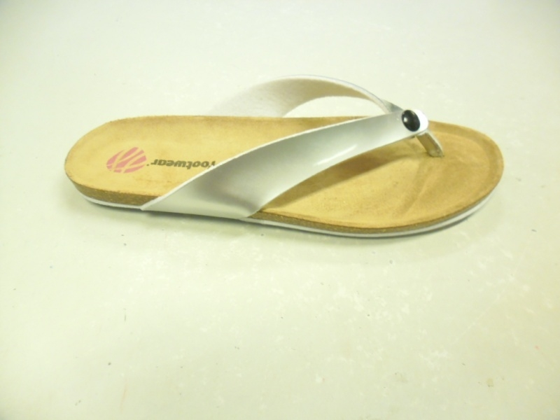 JJ Dames Teen Slipper Zilver Lak 3601.001
