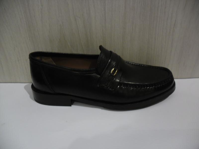 Longo Heren Instapschoen Zwart Leder 49517
