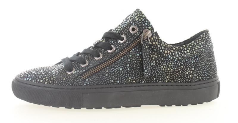 AQA Dames Sneaker Zwart Gestipt A5881