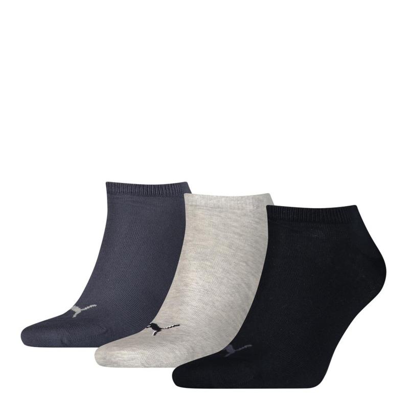 Puma Sneaker Sokken Blauw/Grijs/Jeans 3-pack 261080.532