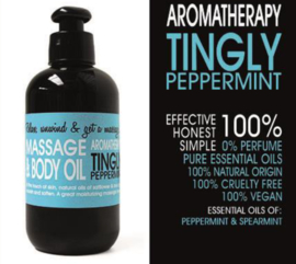 MASSAGE EN BODY OLIE - TINGLY PEPPERMINT 200 ml