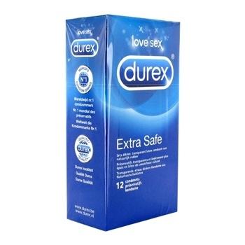 DUREX - EXTRA SAFE CONDOOMS 12 ST.