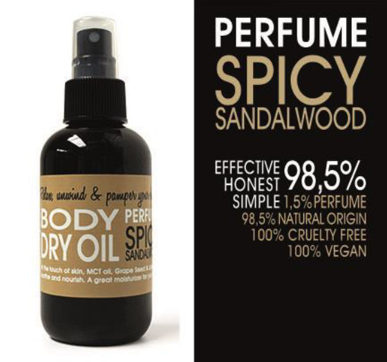 DRY OIL SPRAY - SPICY SANDALWOOD 150 ml
