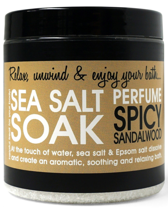 SEA SALT - SPICY SANDALWOOD 250 gram